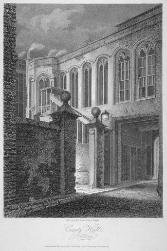 The Entrance to Crosby Hall at No 36 Bishopsgate, City of London, 1804 Giclee Print