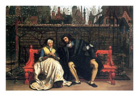 Faust and Marguerite In The Garden Art Print