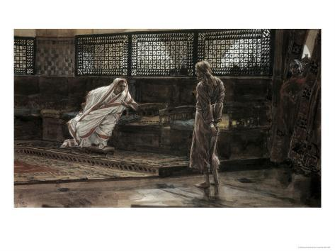 Jesus Before Pilate For the First Time Lámina giclée