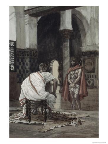 Jesus Before Pilate For the Second Time Lámina giclée