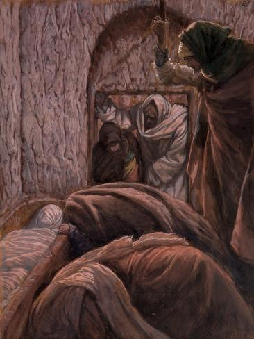 Jesus in the Tomb, Illustration for 'The Life of Christ', C.1884-96 Giclee Print