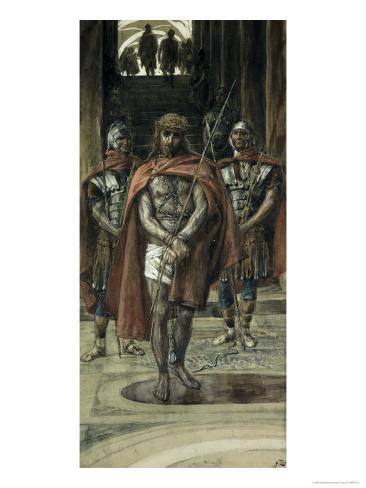 Jesus Leaves the Judgement Hall Lámina giclée