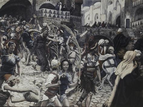 Jesus Led from Caiaphas Lámina giclée