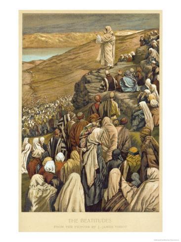 Jesus Preaches the Sermon on the Mount Giclee Print