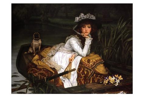 Lady in a Boat Art Print