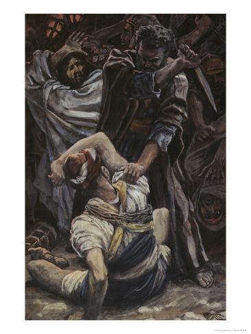 Peter Smites Off the Ear of Malchus Lámina giclée