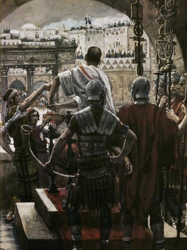 Pilate Washes His Hands Lámina giclée