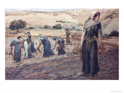 Ruth Gleaning Giclee Print