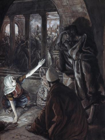 The Lord Looked Upon Peter Lámina giclée