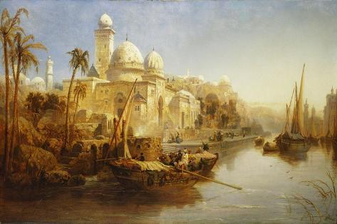 Vessels Moored at the Steps of a Moorish Palace, 1875 Giclee Print