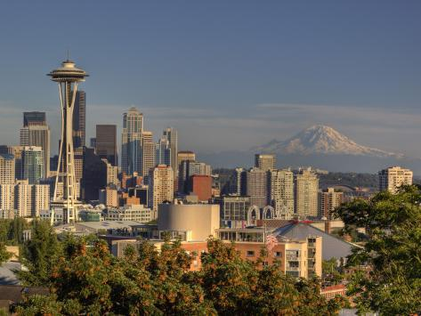 Skyline From Kerry Park, Seattle, Washington, USA Photographic Print