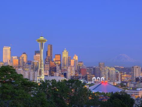 Skyline From Kerry Park, Seattle, Washington, USA Photographic Print