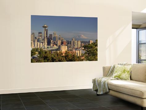 Skyline From Kerry Park, Seattle, Washington, USA Wall Mural