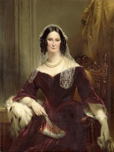 Portrait of Dieuwke Fontein, Second Wife of Adriaan Van Der Hoop Art Print
