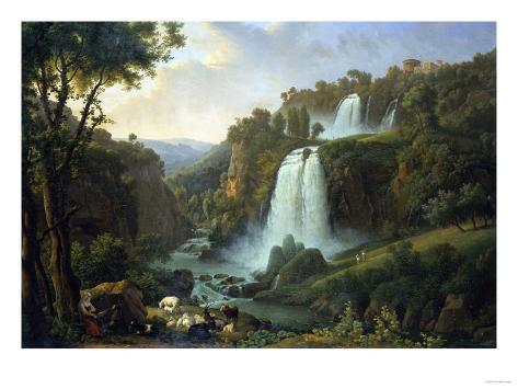 The Falls of Tivoli, 1822 Giclee Print