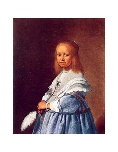 Little Girl in Blue Art Print