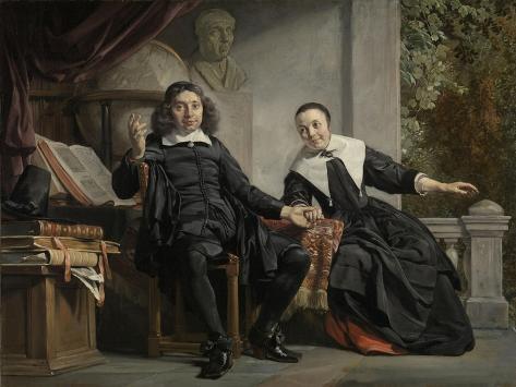 Abraham Casteleyn and His Wife, Margarieta Van Bancken Art Print