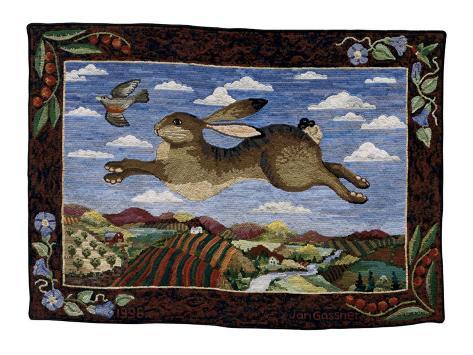 The Flying Hare Art Print