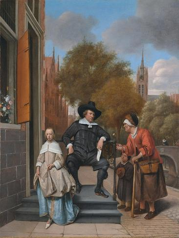 A Burgher of Delft and His Daughter (Adolf Croeser and His Daughter Catharina Croese) Giclee Print
