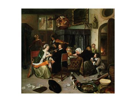 The Dissolute Household, 1668 Giclee Print