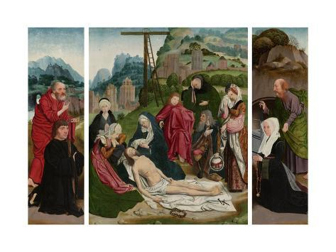Triptych with Lamentation Art Print