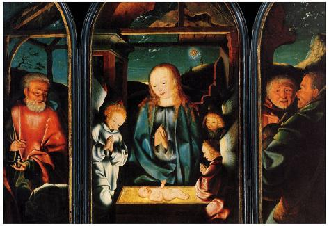 Jan Joest van Kalkar Adoration of the Christ Child Art Print Poster Póster
