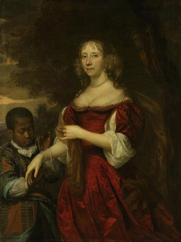 Margaretha Van Raephorst. Wife of Cornelis Tromp Premium Giclee Print