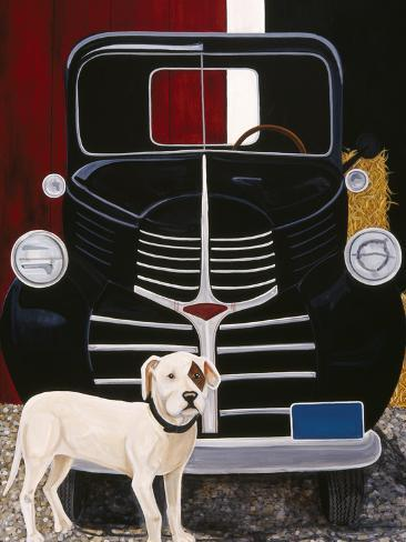 Virgil in Front of the Ranch Truck Giclee Print