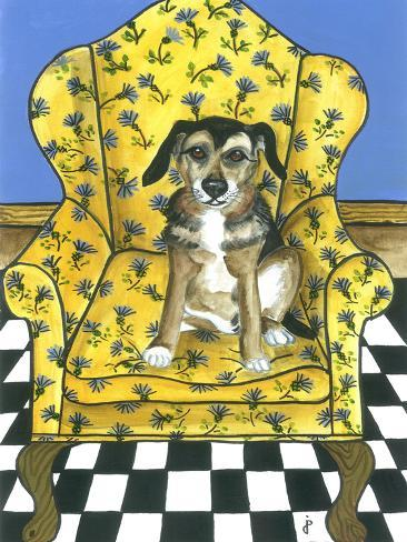 Wing Back Chair Giclee Print