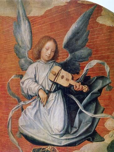 The Virgin in Glory, (Detail), 1524 Lámina giclée