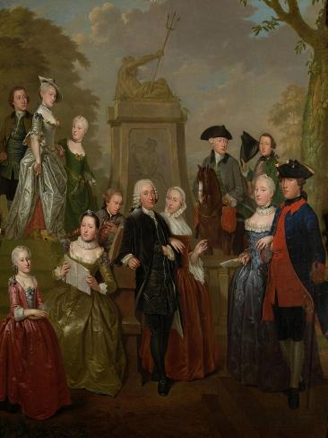 Portrait of Theodorus Bisdom Van Vliet and His Family, Jan Stolker. Art Print