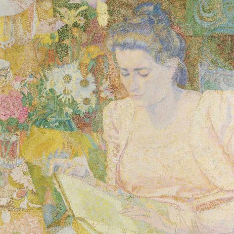 Portrait of Marie Jeanette De Lange Art Print
