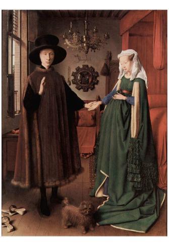 Jan Van Eyck Arnolfini Wedding Picture Of Giovanni And His Wife Giovanna Cenami