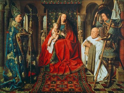 Madonna and Child with Canon Joris Van Der Paele, 1436 Giclee Print