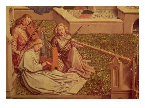 The Fountain of Grace, Detail of Three Angel Musicians Giclee Print
