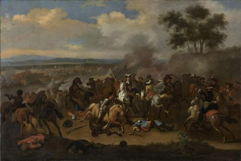 Battle of the Boyne, 12 July Between Kings James II and William III Art Print