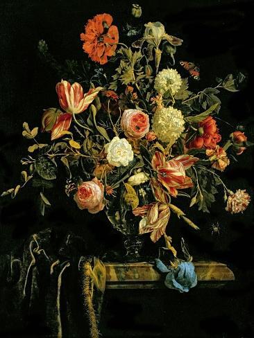 Flower Still Life, 1706 Impressão giclée