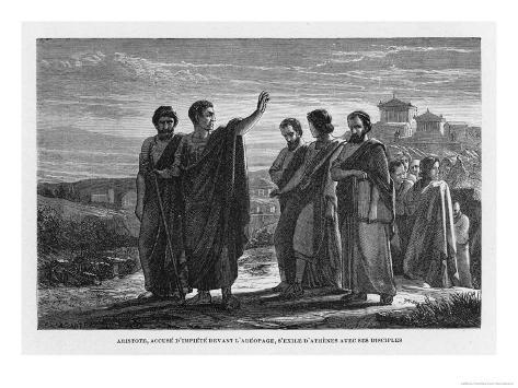 Aristotle Leaving Athens with His Followers Having Been Wrongly Accused of Impiety Giclee Print