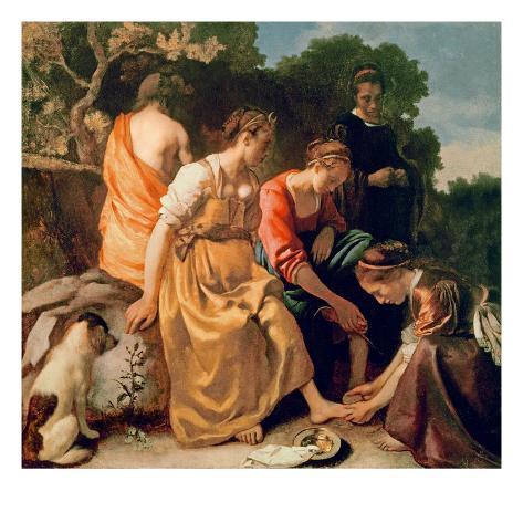Diana and Her Companions, c.1655-56 Giclee Print
