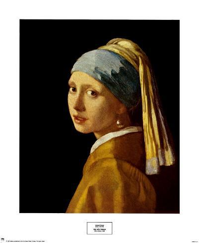 Girl with a Pearl Earring, c.1665 Art Print