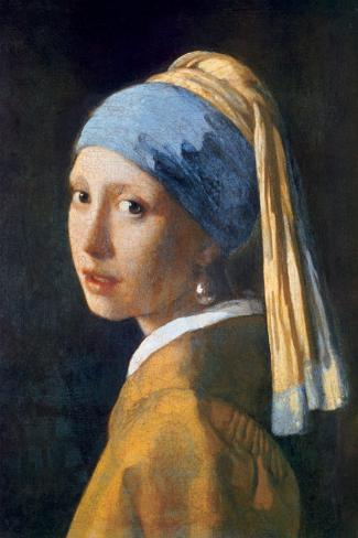 Girl with Pearl Earring Stretched Canvas Print