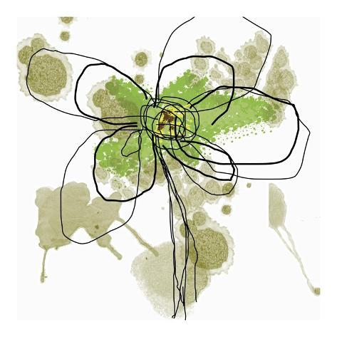 Butterfly Flower I Art Print