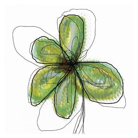 Liquid Flower II Art Print