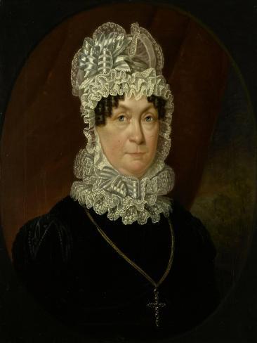 Portrait of Ann Brander (Died), Wife of Job Seaburne May Art Print