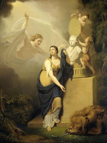 Allegory of the Death of Prince William V Art Print