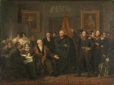 Triumvirate Assuming Power in the Name of the Prince of Orange, 21 November Premium Giclee Print