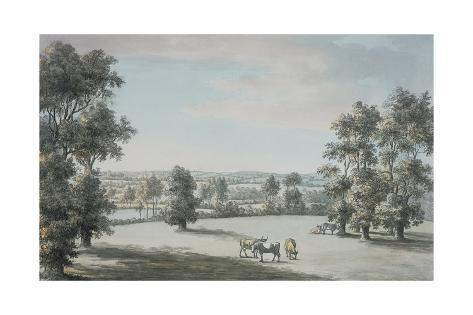 Oxford from the South, 1786 Stretched Canvas Print