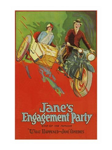 Jane's Engagement Party Art Print