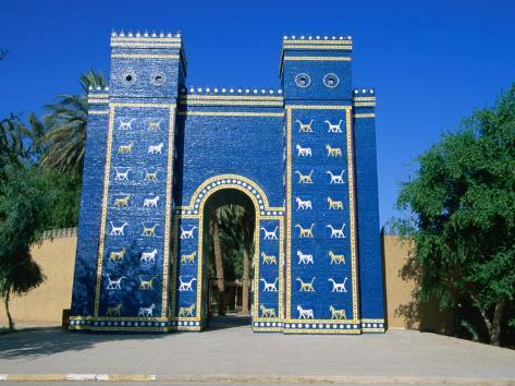reconstructed ishtar gate babylon babil iraq photographic print