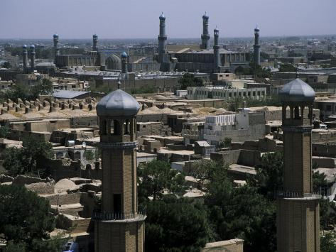 View from the Citadel with the Friday Mosque in the Background, Herat, Afghanistan Photographic Print